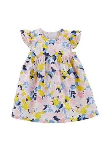 Carters Carter'S Çiçekli Bebek Elbisesi Renkli